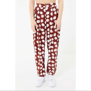 Urban Outfitters Red Uo Dara Pleated Trouser Pant
